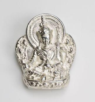 Guru Rinpoche statue - large silver