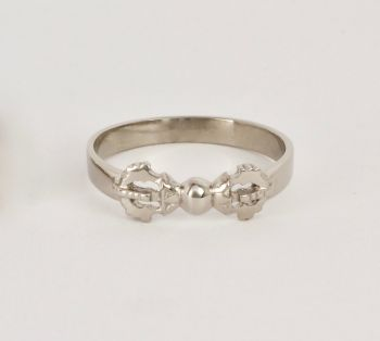 Vajra ring - large silver