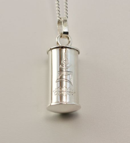 Small silver tube locket