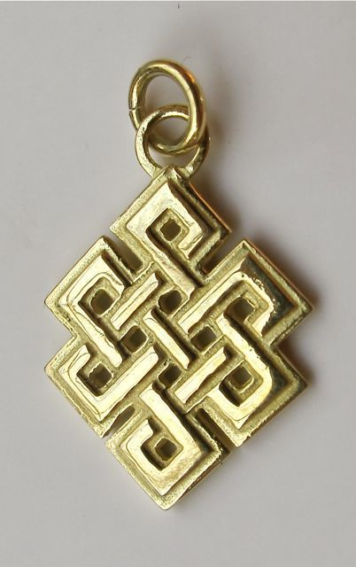 Knot pendant - large gold
