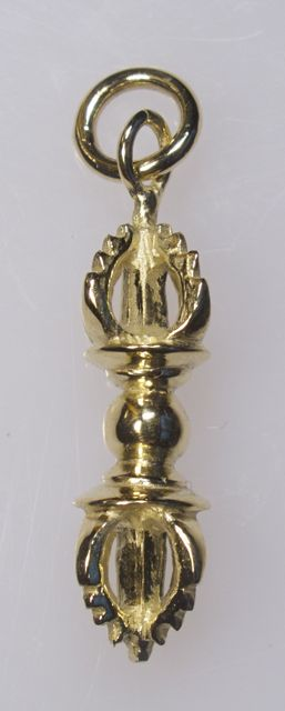 Vajra pendant small gold