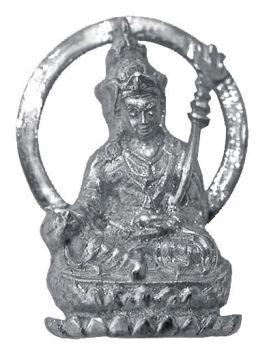 Guru Rinpoche pendant - silver