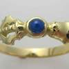 bell ring gold and sapphire