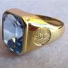 engraved topaz ring