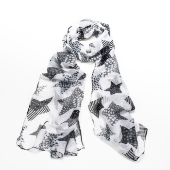 Star Scarf - Black & White