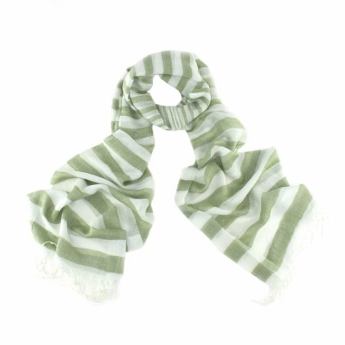 Chelsea Striped Scarf - Green
