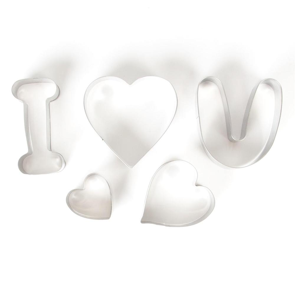 I Love You Cookie Cutters