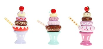 Ice Cream Sundae Wooden Toy