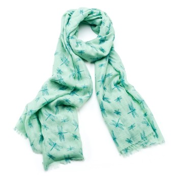 Green Dragonfly Scarf