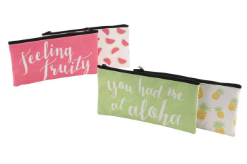 'Feeling Fruity' & 'You had me at Aloha' Cosmetic Bags