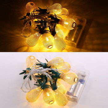 Gold Pineapple LED Light String