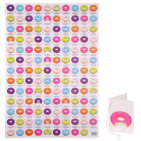 Colourful Doughnut Donut Wrapping Paper