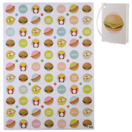 Fast Food Wrapping Paper - Pizza, Burger, Fries & Hotdog