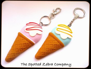 Mega size Ice Cream Keyrings