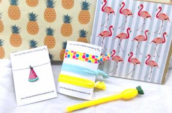 Small Gift Box: Mainly pineapples, some flamingoes and some watermelons
