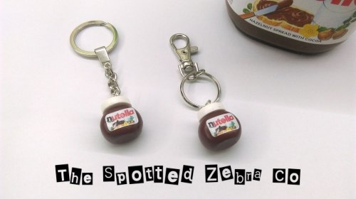 NEW 3D Nutella® Jar Keyrings