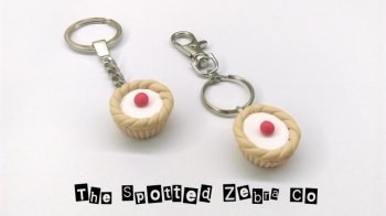 New Cherry Bakewell Tart Keyrings