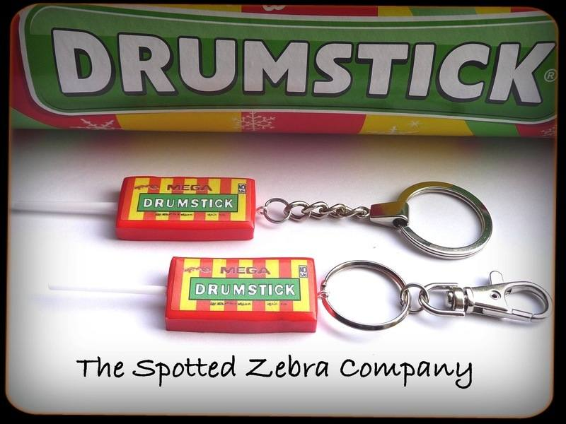 Drumstick lolly keyrings