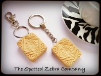 Replica Custard Cream Biscuit - Keyring