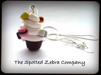Cupcake with Allsort Sprinkles - Necklace
