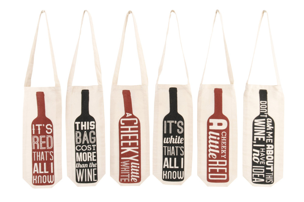Cheeky Wine Canvas Gift Bags