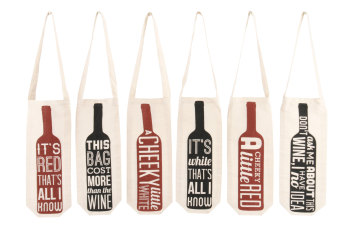'Cheeky' Wine Canvas Gift Bags