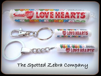 Love Hearts® Tube Keyring