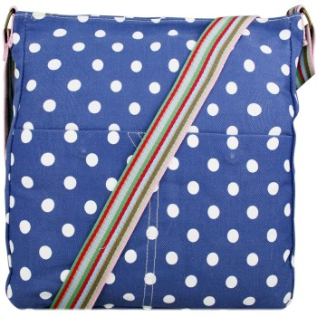 Blue Polka Dot Canvas Bag