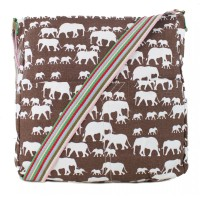 Elephant Canvas Bag - Brown