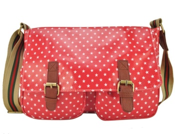 Pink - Small Stars Messenger Bag