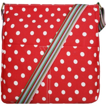 Red Polka Dot Canvas Bag