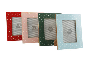 "Ceramic Polka Dot Picture Frames - 6""x4"""