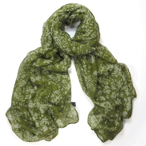 Green Vintage Flower Scarf/Wrap