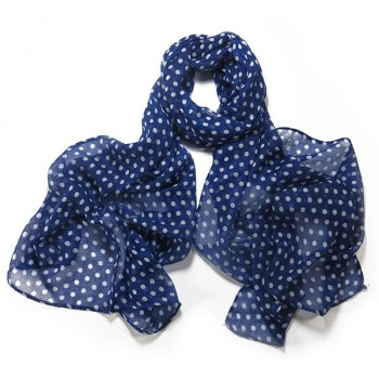 Blue Small Polka Dot Scarf
