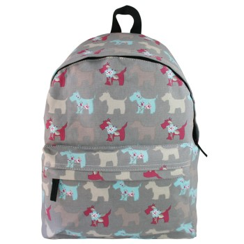 Dog Backpack Bag - Grey