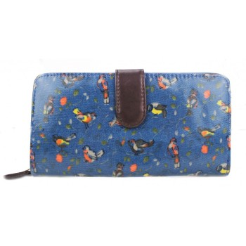 Birds Purse - Navy