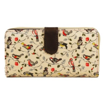 Birds Purse - Beige
