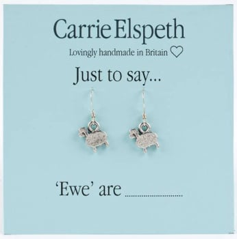 Carrie Elspeth - Just to say... 'Ewe' are - Sheep Earrings