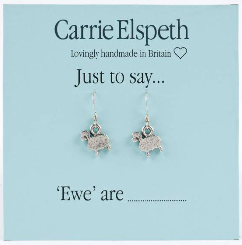 Carrie Elspeth - Just to say... 'Ewe' are - Earrings