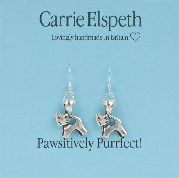 Carrie Elspeth - Pawsitively Purrfect! Cat - Earrings