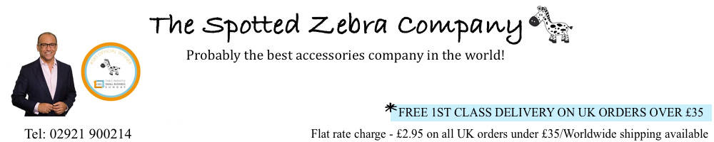 The Spotted Zebra Company, site logo.