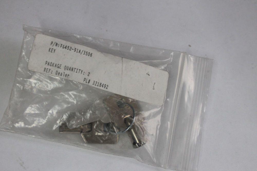 Harley Ignition Fork Lock Keys 71452-91A/3506 Genuine OEM New Old Stock
