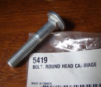 "Harley Round Head Carriage Bolt 5/16""-18 x 1-3/4"" UNC - 5419"