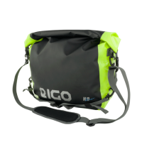Eigo 20L Messenger Waterproof Bag Black / Fluro Reflective Logo