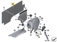 BMW F650GS G650GS Dakar Sertao Heat Protection Mat - New OEM 61218524983