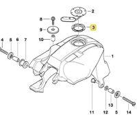 BMW K1200 RS LT GT K RS Fuel Tank Filler Gasket 16117686297