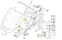 BMW K1200 GT RS Windshield Insert F 46637659360