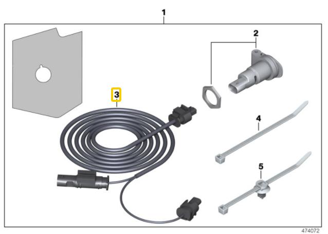 BMW R1200GS / Adv R1250GS / Adv Retro Fit Socket Cable New