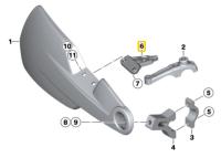 BMW HP2 Enduro Right Hand Protector Bracket New Genuine OEM 32727684576