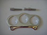 Harley Night Train Fatboy FLSTC FXDWG 1 1/2 Chrome Gauge Bracket 67331-04